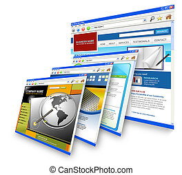 Technology Internet Websites Standing - Four technology...