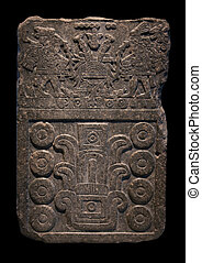 Ancient Mayan stone carving - Pre-Columbian art thrived...
