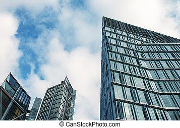 Modern Buildings, street view in London - UK