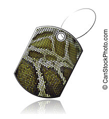 Tag of snake skin_5 - Tag leather snake with reflection,...