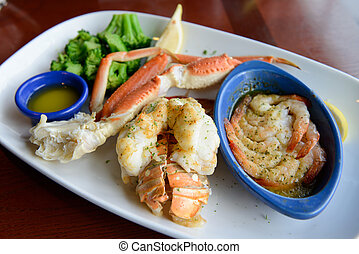 Seafood combo dinner - Ultimate seafood combo dinner served...