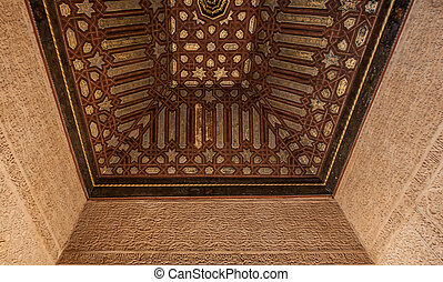 Carving, Alhambra, Spain