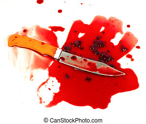 a knife smeared with blood a murder weapon symbolist crime