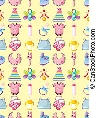 seamless baby thing pattern