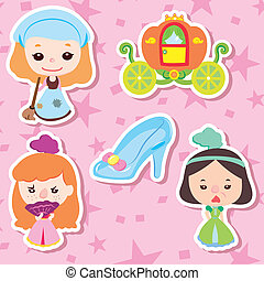 Cartoon story people icons,vector,illustration