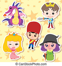 Cartoon story people icons