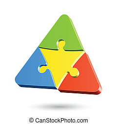 Puzzle triangle - Vector illustration