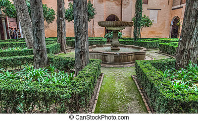 Alhambra Garden - Garden of the Alhambra, Granada, Spain