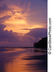 Sunset Esterillos Oeste, Costa Rica - Moody Orange and...