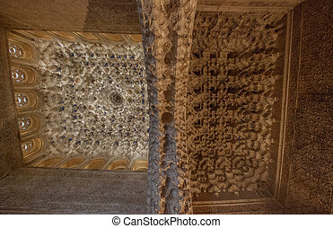 Ceiling Carving, Alhambra, Spain