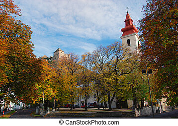 Church and Castle - Sumeg, Hungary - Autumn Landscape with...