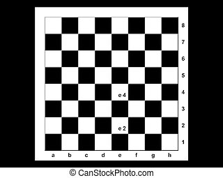 Chessboard - The chessboard on the black background
