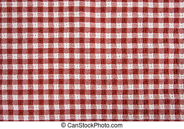 Red and White Gingham Cloth - Red and White Checkered Picnic...