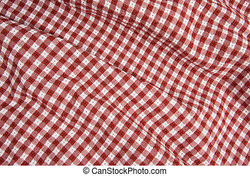 Gingham Red and White Print
