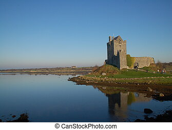 Dunguaire Castle - Galway, Ireland - Dunguaire Castle sits...