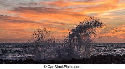 Sunrise Splash at Sandy's