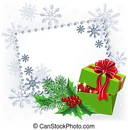 Gift Christmas box - Gift box with Christmas decoration...