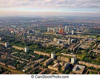Aerial view of Buitenveldert West Amsterdam Holland - Aerial...
