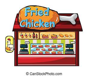 Fast food restaurant - Illustration of a fast food...