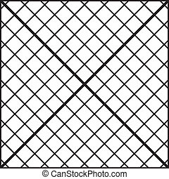 Fence of diagonal bars