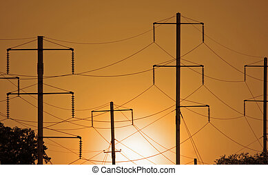 Electrical Wires - View of a series of electrical wires...
