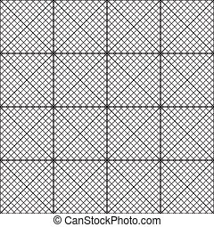 Fence of diagonal bars seamless background x16
