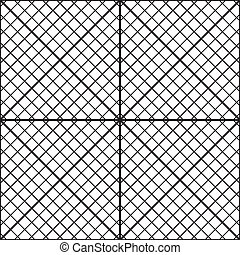 Fence of diagonal bars seamless background