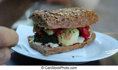 Health sandwich - Eating healthy sandwich