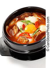 sundubu jjigae, korean cuisine - korean soft tofu stew