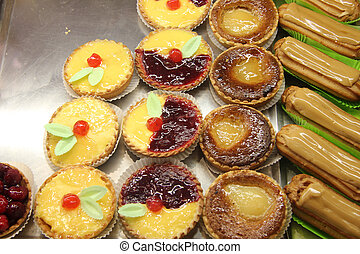 Pastry in a French shop