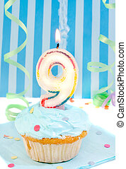 boy\\\'s ninth birthday - boy\\\'s ninth birthday cupcake...