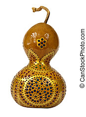 Decorative pumpkin gourd - Adorned with colorful beads...