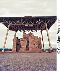Ancient Indian Ruins - Casa Grande National Monument of the...