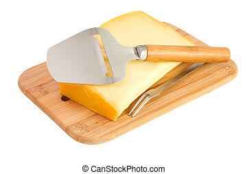 cheese on a wooden desk
