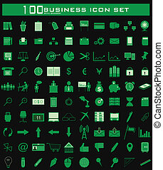 Hundred Business Icon Set