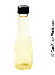 Vinegar bottles isolation on white background