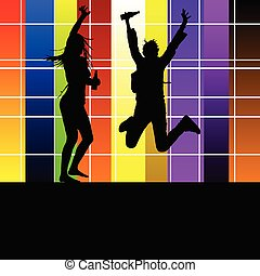 couple in the party vector illustration