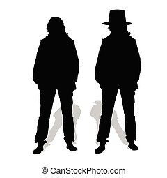 people couple vector silhouette illustration