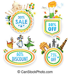 Indian theme Sale Badge - illustration of Sale promotion...