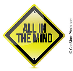 all in the mind concept illustration design over white