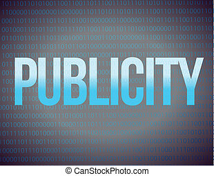 Publicity on a binary illustration design background