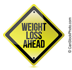Weight loss concept illustration design over a white...