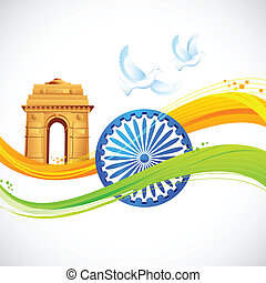 India Gate on Indian Flag