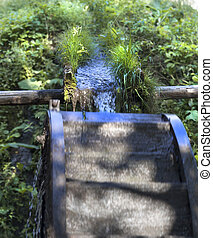 water mill - Small watercourse behind a provincial water...