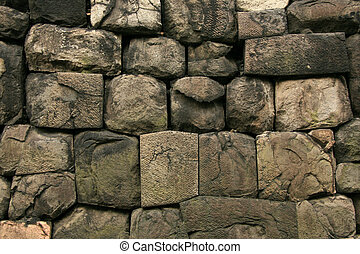 Stone Wall - East Palace Gardens, Tokyo, Japan