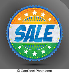 Sale Badge in Indian Tricolor