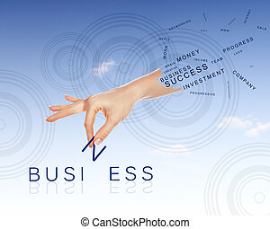 Business concept with words - Business concept with hands...