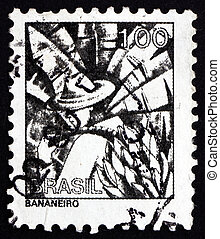 Postage stamp Brazil 1976 Banana Plantation Worker