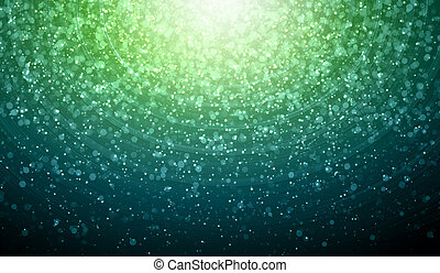 Green abstract light background - Green colour bokeh...