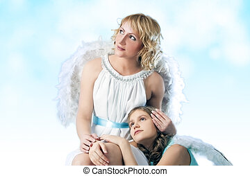 two angels together
